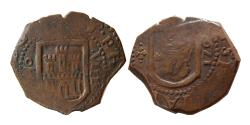 World Coins - COLONIAL SPAIN. Philip II. 1623 AD. AE Unit, dated 1623.