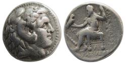 Ancient Coins - SELEUKID KINGS, Seleukos I. AR Tetradrachm. Babylon. Struck in the name of Alexander III . Scarce.