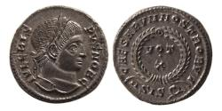 Ancient Coins - ROMAN EMPIRE. Crispus. as Caesar. AD 316-326. Æ Follis. Siscia mint.