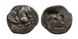 Ancient Coins - THRACO-MACEDONIAN REGION. Uncertain. Circa 450-400 BC. Silver Diobol.