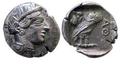 Ancient Coins - ATTICA, Athens. Circa 454-404 BC. Silver Tetradrachm. Choice FDC. Lustrous.