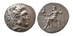 Ancient Coins - KINGS of MACEDON. Alexander III. Silver Tetradrachm. Babylon mint, struck under Seleukos I,