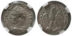 Ancient Coins - SYRIA, Seleucis and Pieria. Caracalla. AD. 198-217. BL Tetradrachm. NGC-AU.