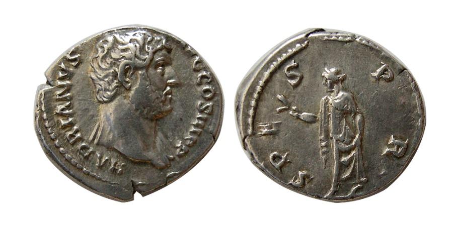 Ancient Coins - ROMAN EMPIRE. Hadrian. 117-138 AD. AR Denarius.