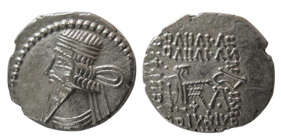 Ancient Coins - KINGS of PARTHIA. Pakoros I. Circa AD. 78-120. AR Drachm. Ekbatana mint.