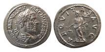Ancient Coins - ROMAN EMPIRE. Macrinus. AD. 217-218. Silver Denarius. Lovely strike. Choice FDC.