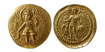 INDIA, KUSHAN. Vasudeva II. 270-310 AD. Gold Dinar.