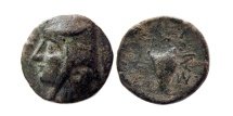 Ancient Coins - KINGS OF PARTHIA. Artabanus I (Arsaces II). 211-185 BC. AE chalkous. Rare.