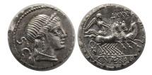 ROMAN REPUBLIC. C. Naevius Balbus. 79 BC. AR Denarius.