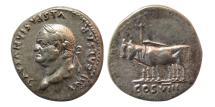 Ancient Coins - ROMAN EMPIRE. Vespasian. AD. 69-79. Silver Denarius. Lovely strike.