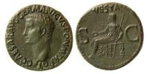 ROMAN EMPIRE. Gaius Caligula. 37-41 AD. Æ As. Lovely strike. Lovely original dark green patina.
