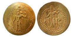 Ancient Coins - KUSHANO-SASANIAN. Vahram (Bahram) I Kushanshah. AD. 330-365. AV Dinar. Choice FDC. Lustrous.