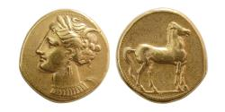 Ancient Coins - ZEUGITANIA. Carthage. Circa 310-270 BC. Electrum Stater.