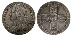 World Coins - GREAT BRITAIN; George II. 1727-1760. AR 6 Pence. dated 1757.