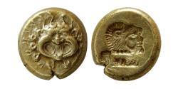 Ancient Coins - LESBOS, Mytilene. Circa 521-478 BC. EL Hekte.