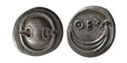 Ancient Coins - BOEOTIA, Thespiai. 431-400 BC. AR Obol. Rare.