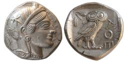 Ancient Coins - ATTICA. Athens. Circa 430s-420s BC. AR Tetradrachm. Lovely strike. Choice FDC.