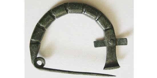 Ancient Coins - BYZANTINE Large Bronze Fibula. Circa 6th-8th Century AD. Rare.