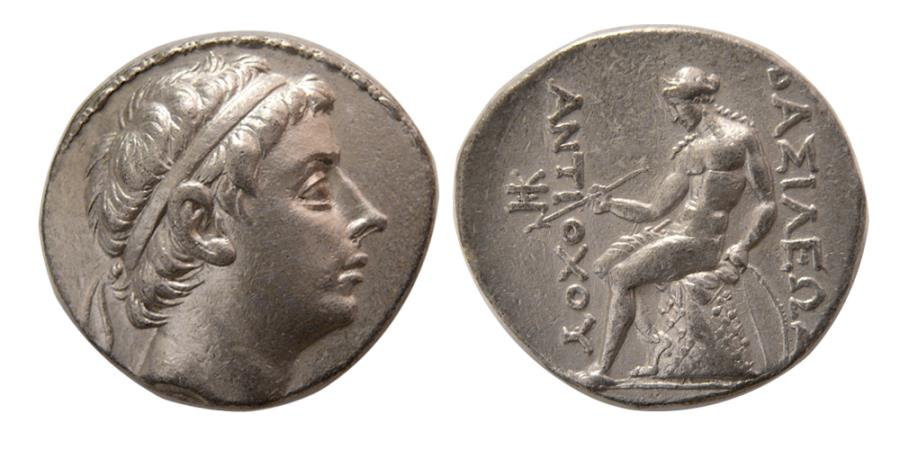 Ancient Coins - SELEUKID KINGDOM. Antiochus III. 223-187 BC. AR Tetradrachm. Lovely strike. Elegant dies.