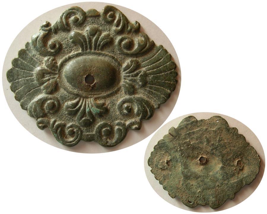 Ancient Coins - BYZANTINE EMPIRE. Ca. 10-12th. century AD. Bronze decorative Placque