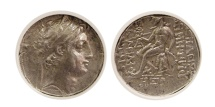 Ancient Coins - SELEUCID KINGDOM. Demetrius II. 145-140 BC. AR Drachm. Antioch, dated SE 168 = 145 BC. NGC XF.