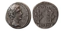 ROMAN EMPIRE. Augustus. 27 BC.-14 AD. AR Denarius.