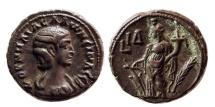 Ancient Coins - EGYPT, Alexandria. Salonina. AD. 254-268. Æ Tetradrachm. Dated RY 14 (266/7 AD).