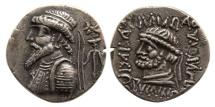 Ancient Coins - ELYMIAS KINGS. Kamnaskires V. Circa 54/3-33/2 BC. AR Tetradrachm. Susa mint. Lovely strike.