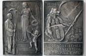 World Coins - SWITZERLAND. Shooting Festival, St Gallen. 1904, Silver Plaque.