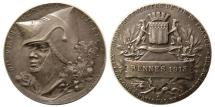 World Coins - FRANCE. 1913. Silver Medal. Shooting Competition. City of Rennes (Britany).