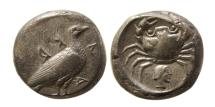 Ancient Coins - SICILY, Akragas. Circa 510-480 BC. AR Didrachm. Scarce.