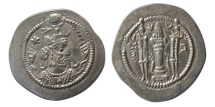 Ancient Coins - SASANIAN KINGS. Kavad I. 488-497 AD. AR Drachm.  First reign.  Mint: GO (Gorgan). Rare.