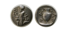 Ancient Coins - THRACE, Islands Off Thasos. 411-350 BC. AR Trihemiobol.