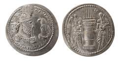 Ancient Coins - SASANIAN KINGS. Varhran (Bahram) II. AD. 276-293. AR Drachm. Lovely strike. Extremely Rare.