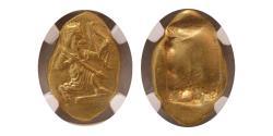 Ancient Coins - ACHAEMENID EMPIRE. Circa 420-375 BC. Gold Daric. NGC Choice AU. Lydo-Milesian standard. Sardes mint.