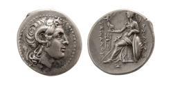 Ancient Coins - KINGS of THRACE, Lysimachos. 323-281 BC. AR Drachm. Ephesos mint. Lovely strike. Rare.