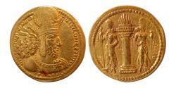 Ancient Coins - SASANIAN KINGS. Shahpur I. 240-272 AD. Gold Dinar. Rare variety.