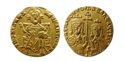Ancient Coins - BYZANTINE EMPIRE. Basil I, the Macedonian, 867-886 AD. Gold Solidus.