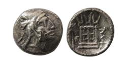 Ancient Coins - KINGS of PERSIS; Baydad (Bagadat). Early 3rd century BC. AR Obol. Extremely rare. Unpublished.