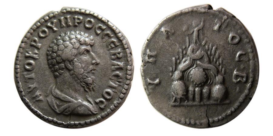 Ancient Coins - CAPPADOCIA. Caesarea. Lucius Verus. AD. 161-169. AR Didrachm.