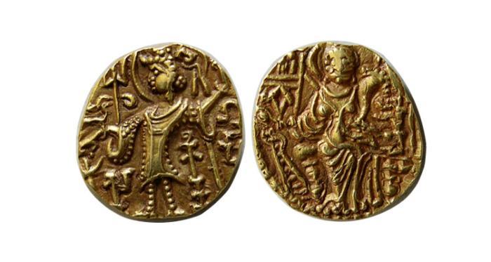 World Coins - KUSHAN KINGS of INDIA. Vasudeva III. Circa 360-365 AD. AV Dinar