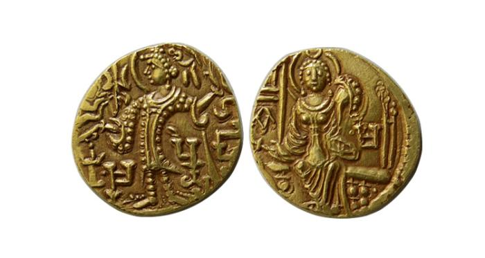 World Coins - KUSHAN KINGS of INDIA. Vasudeva III. Circa 360-365 AD. AV Dinar