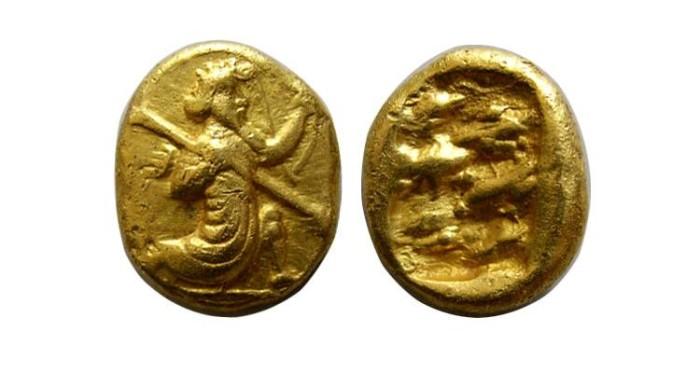 Ancient Coins - ACHAEMENID EMPIRE. temp. Artaxerxes II to Dareios III. Circa 375-336 BC. AV Daric
