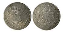 World Coins - MEXICO, Republic (Second). 1867-present. AR 8 Reales. Dorango Mint assayer J. Dated 1882.