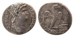 Ancient Coins - SYRIA; Seleukia and Pieria. Nero. 54-68 AD. Tetradrachm. Dated RY 10(year 112 of the Caesarean Era = AD 63/4.