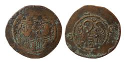 Ancient Coins - ARAB-SASANIAN, Apzun. Æ. Very rare.