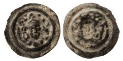 Ancient Coins - HUNICS. Ca. 3rd-4th. Century AD. AE Brockage. Very Rare.
