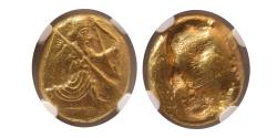 Ancient Coins - ACHAEMENID EMPIRE. Time of Xerxes II-Artaxerxes II. Circa 420-375 BC. AV daric. NGC Choice AU.