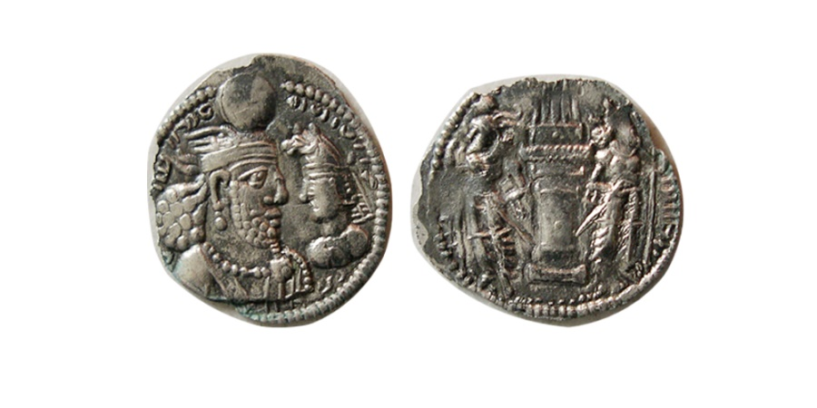 Ancient Coins - SASANIAN KINGS. Varhran (Bahram) II. AD. 276-293. Silver Obol. Extremely rare. From The Sunrise Collection.