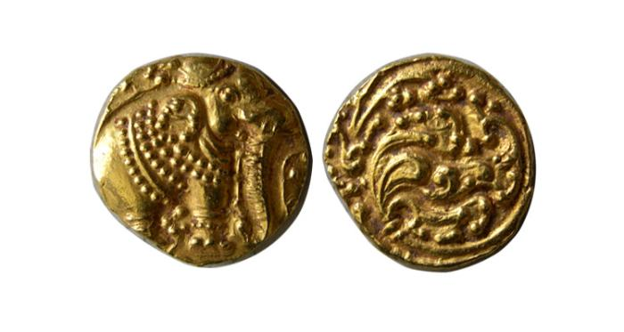 World Coins - INDIA. Gangas of Talakad. Anonymous. 1100-1327 AD. Gold Pagoda